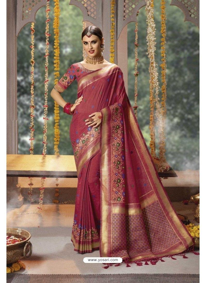 Details about  /Indian Women/'s Banarasi Silk Saree Blouse Traditional Ethnic Festive Wear Sari