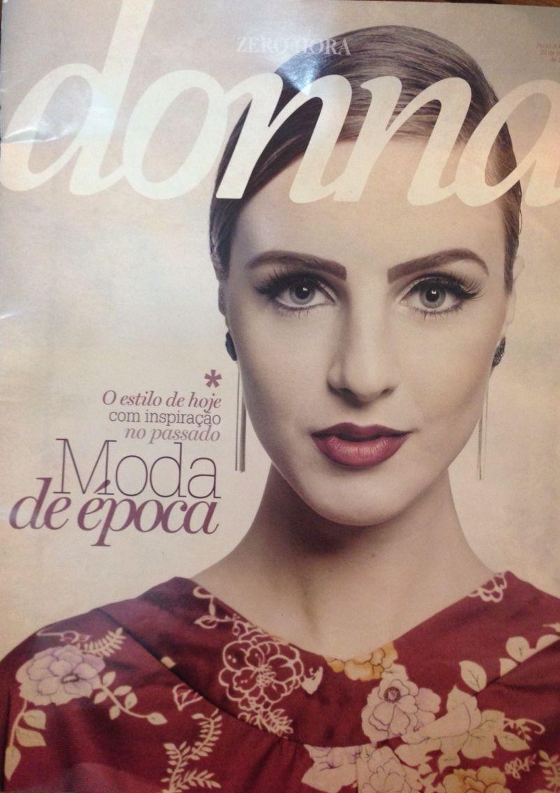 Capa da Revista Donna make Jaquelin Gelsi