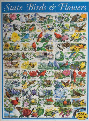 Cool Puzzle State Birds Flower Puzzles Jigsaw Puzzles