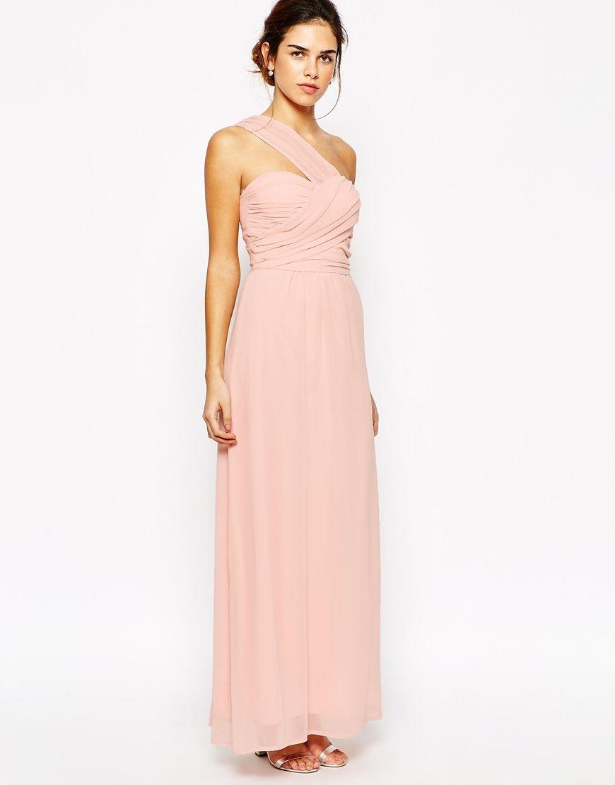 $96 Elise Ryan | Elise Ryan One Shoulder Waisted Maxi Dress at ASOS ...
