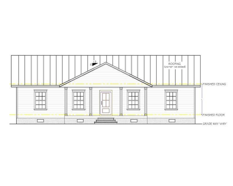 Willow Lane House Plan 1664 Square Feet Gable Roof Option Etsy In 2020 House Plans Gable Roof Gable Roof House