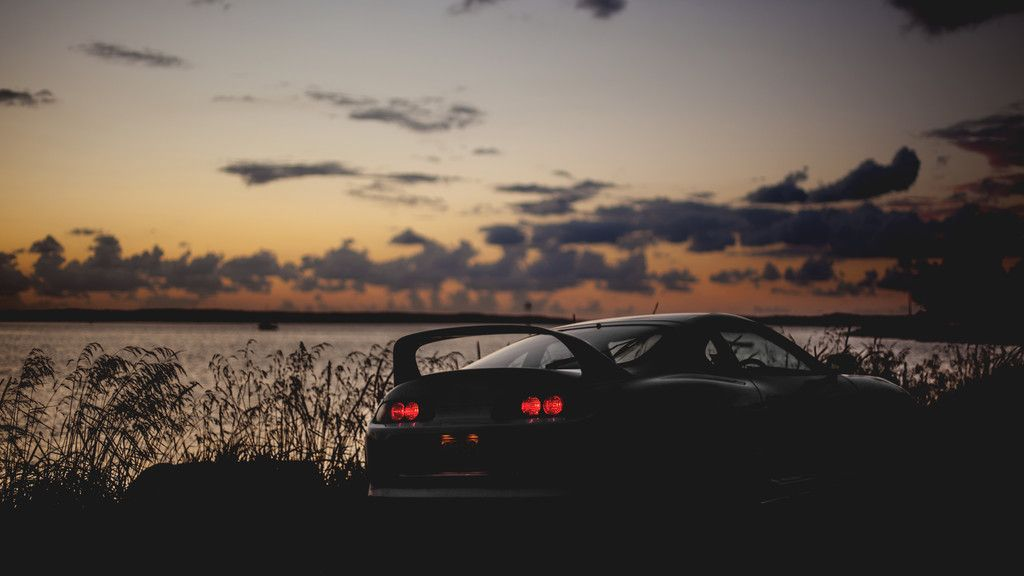 Sunset Toyota Sports Car Rear View Wallpaper Xe O To O To