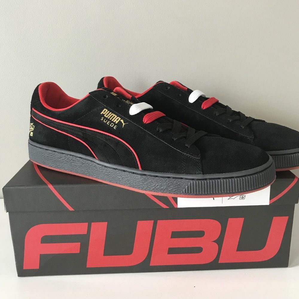 0def13e139e268 Puma x FUBU mens Suede Classic sneaker 13 NEW 50th anniversary black red  box  PUMA  AthleticSneakers