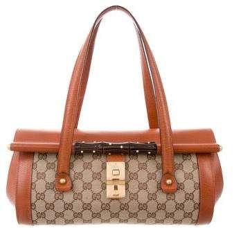 9eb0d3b50d2 Gucci GG Canvas Bamboo Bullet Bag