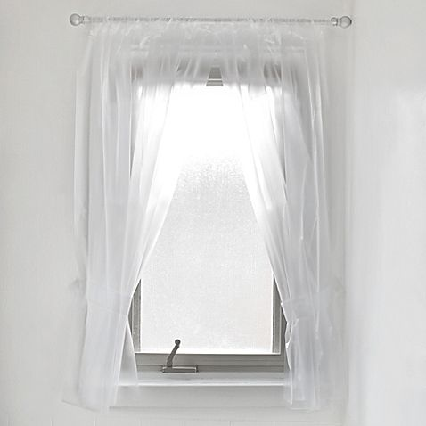 Vinyl Bathroom Window Curtain In Frost Good Temporary Solution For The