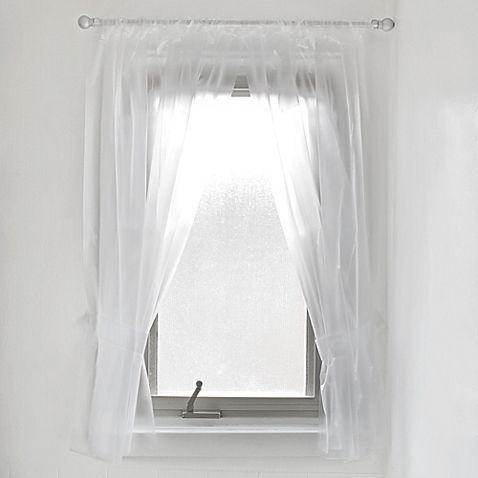 Vinyl Bathroom Window Curtain In Frost Too Short 45 Window In