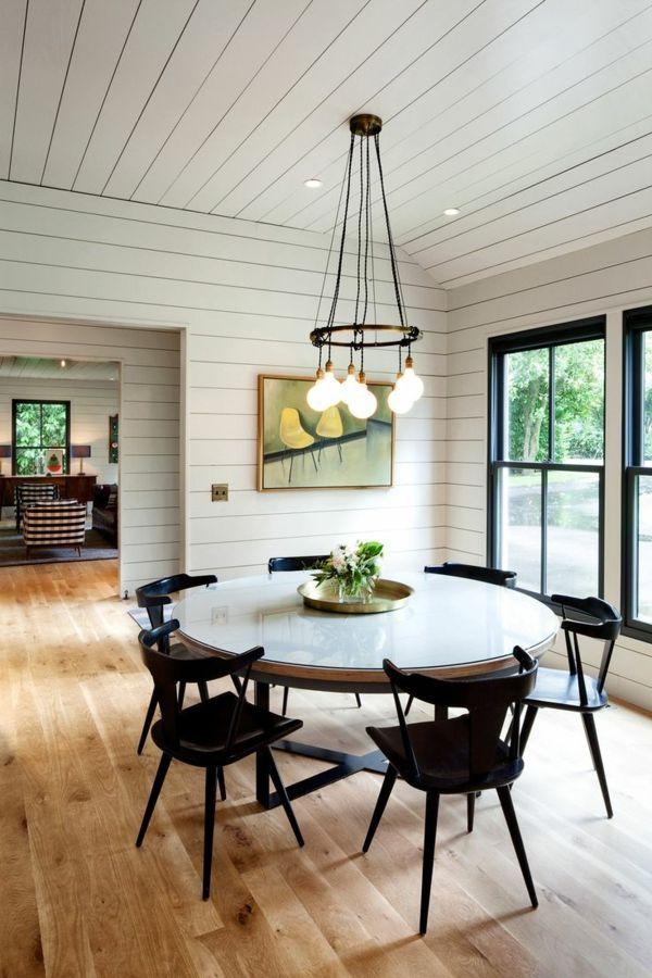 Esstisch Rustikal Und Dessen Platz Im Ländlichen Esszimmer | Runder Esstisch,  Glasscheiben Und Esstische