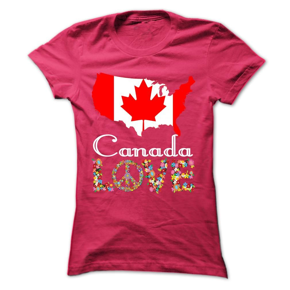 (New Tshirt Design) Limited Edition Canada Love at Tshirt United States Hoodies, Funny Tee Shirts