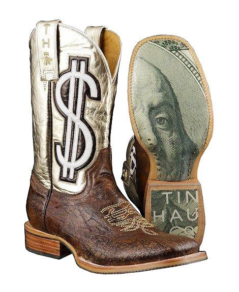 31af06edaf0134 Tin Haul Gold Digger Cowgirl Boots - Square Toe...I'd rock these! These are  my next boots!