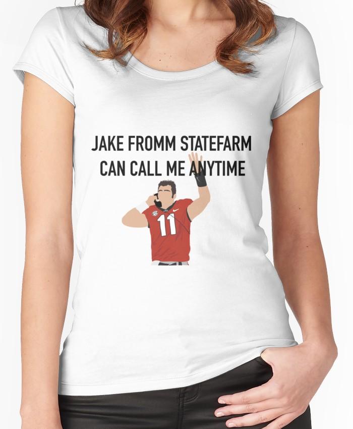Jake Fromm StateFarm Women's Fitted Scoop T-Shirt