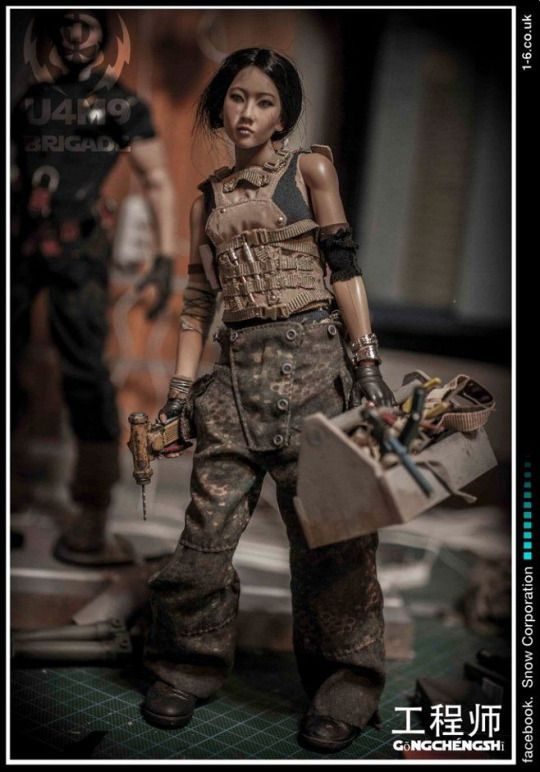 Phicayin采集到dolly 739图 花瓣手工 布艺 Tank Girl Figure Model