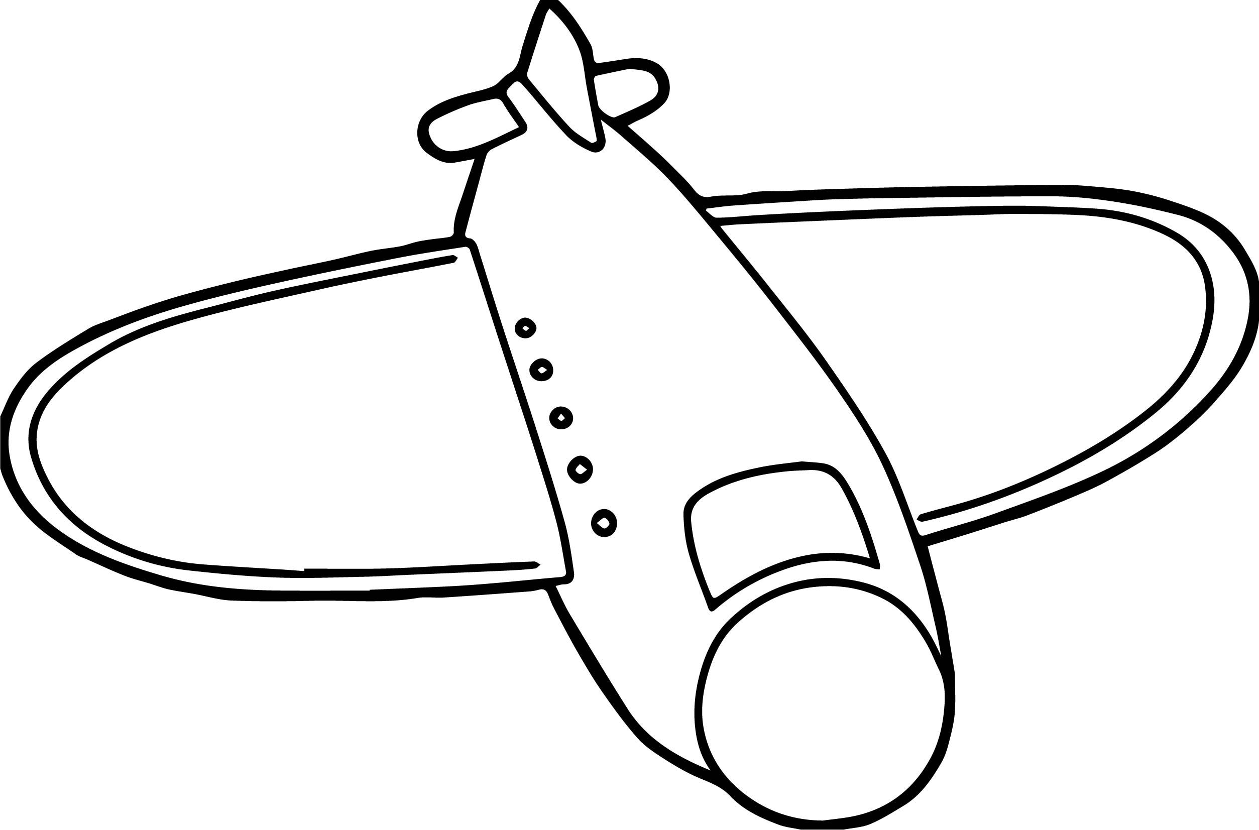 Airplane Toy Style Coloring Page