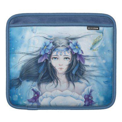 Watercolor Painting Underwater Anime Princess IPad Sleeve