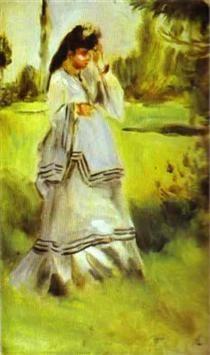 Woman in a Park - Pierre-Auguste Renoir