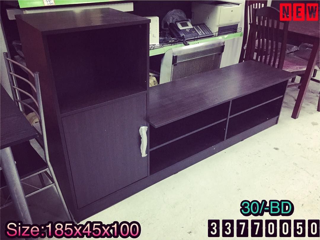 For Sale Wood Tv Table Size 185x45x190 Brown Color Modern Style New Made In Malaysia Price 30 Bd للبيع طاولة Home Decor Furniture Filing Cabinet