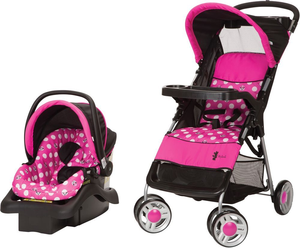 Pink Disney Stroller Travel System Minnie Mouse Polka Dots ...