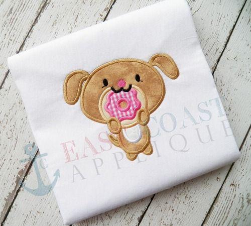Donut Dog East Coast Applique Pinterest East Coast Embroidery