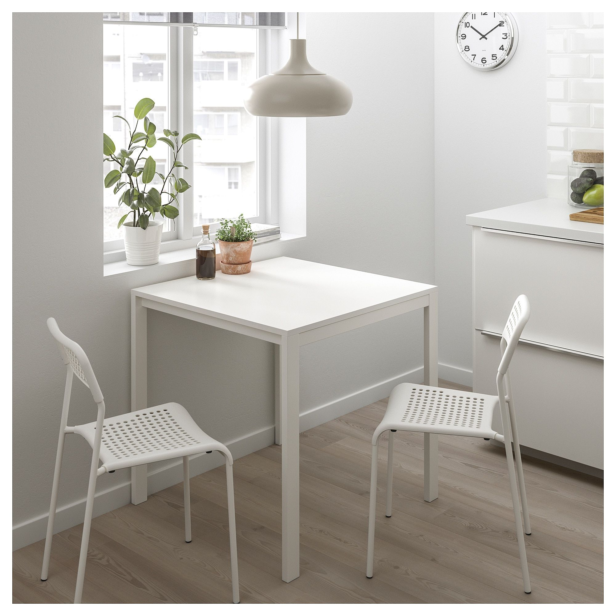 Melltorp Adde Table And 2 Chairs White 29 1 2 Dining Room Small Small Kitchen Tables Ikea