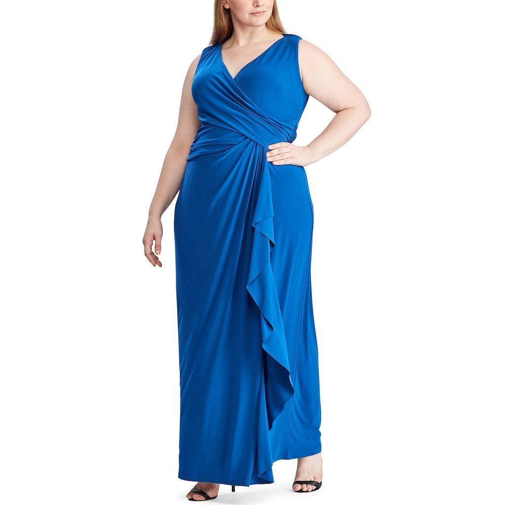 Plus Size Chaps Sleeveless Evening Dress Dresses Evening Dresses Lace Panel Dress [ 1024 x 1024 Pixel ]