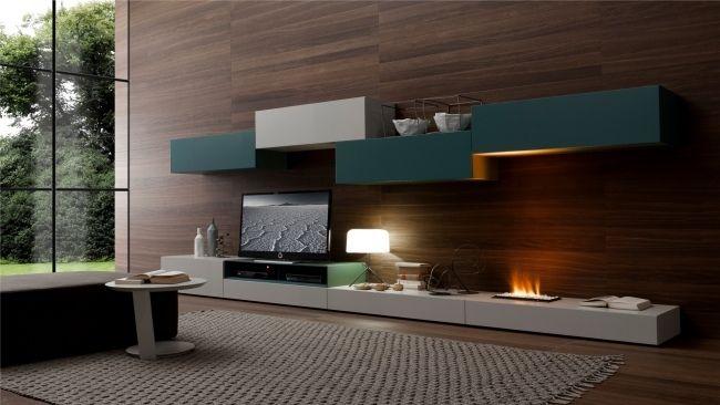 Wohnwand design wand  bioethanol kamin offene flamme wohnwand wohnzimmer | room design ...