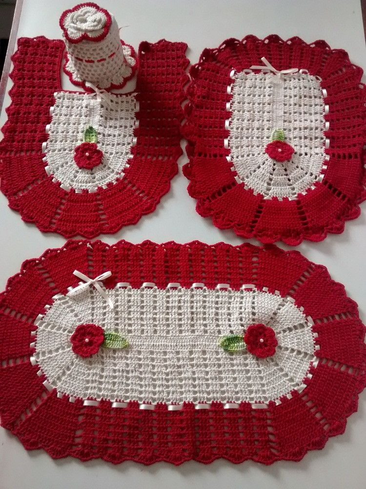 Jogo De Banheiro De Barbante 4 Pecas Artesanato Liduca Elo7 Jogos De Banheiro Croche Tapete De Croche Croche Para Banheiro
