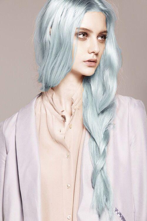 Icy Pastel Blue Hair