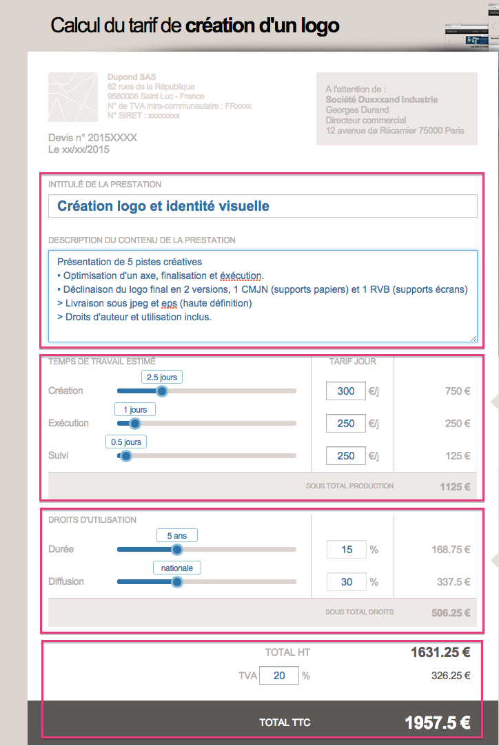 comment calculer le tarif de cr u00e9ation d u0026 39 un logo