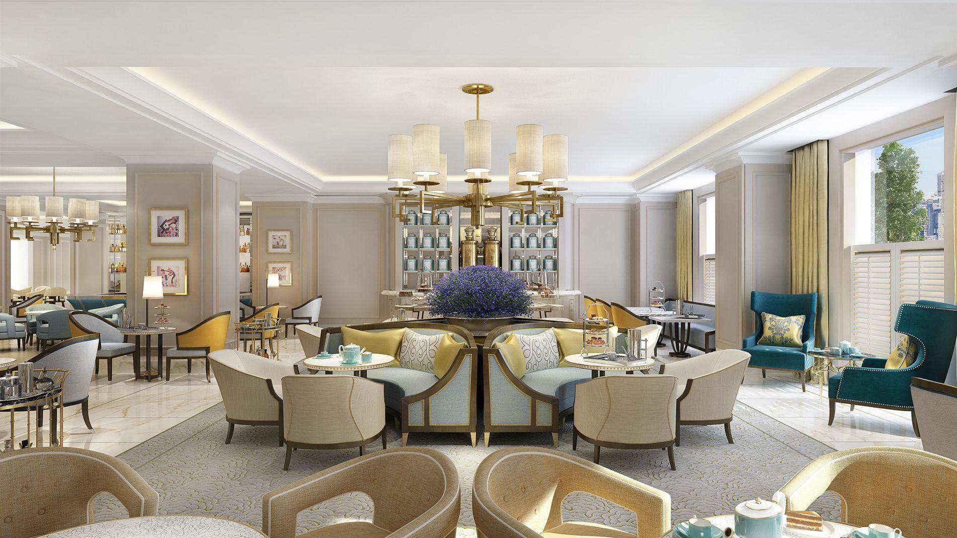 Langham Sydney Luxury resort interior, Kelly wearstler
