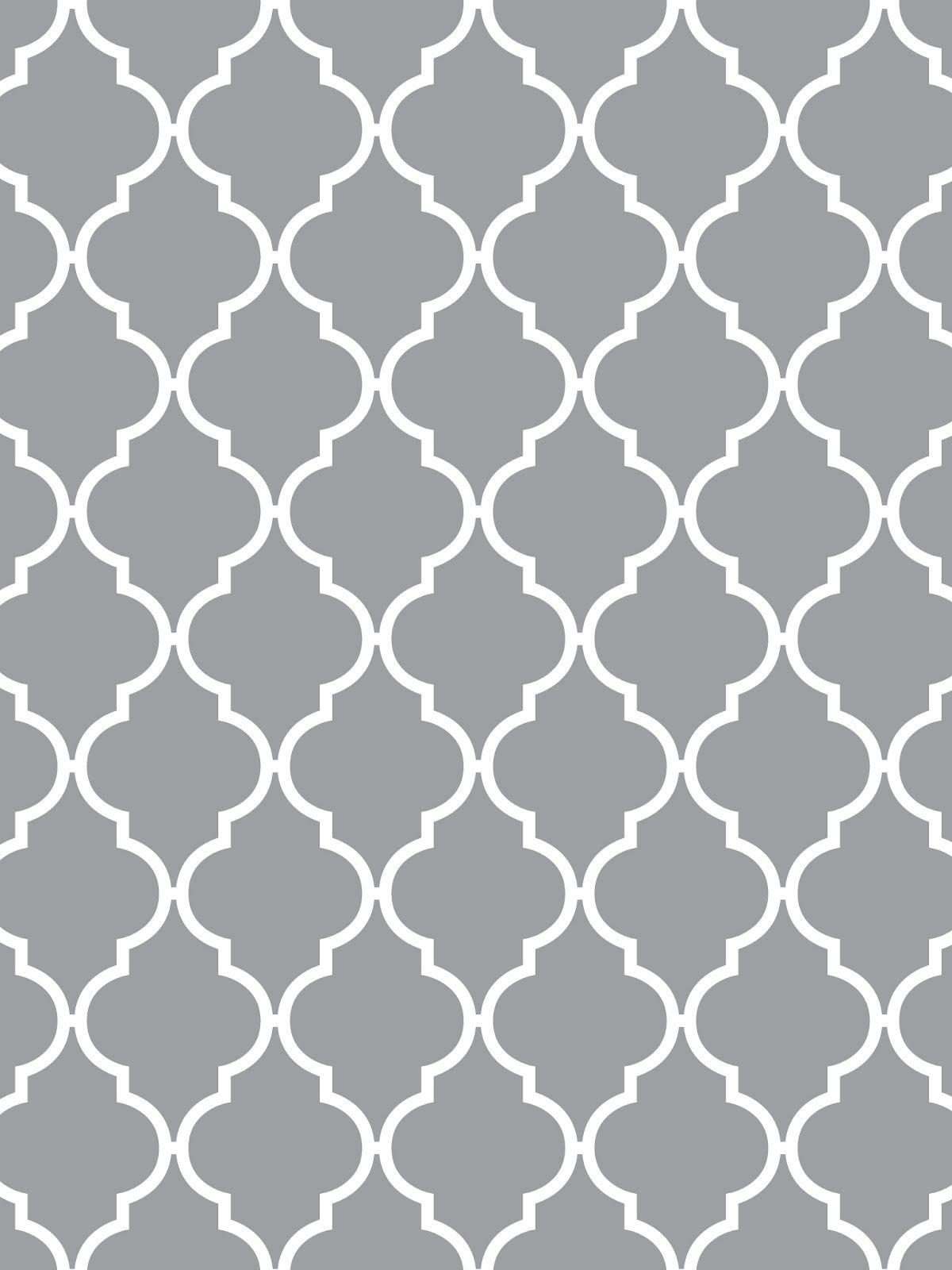 Quatrefoil This Glorious Moroccan Design Has A Name Grey Wallpaper