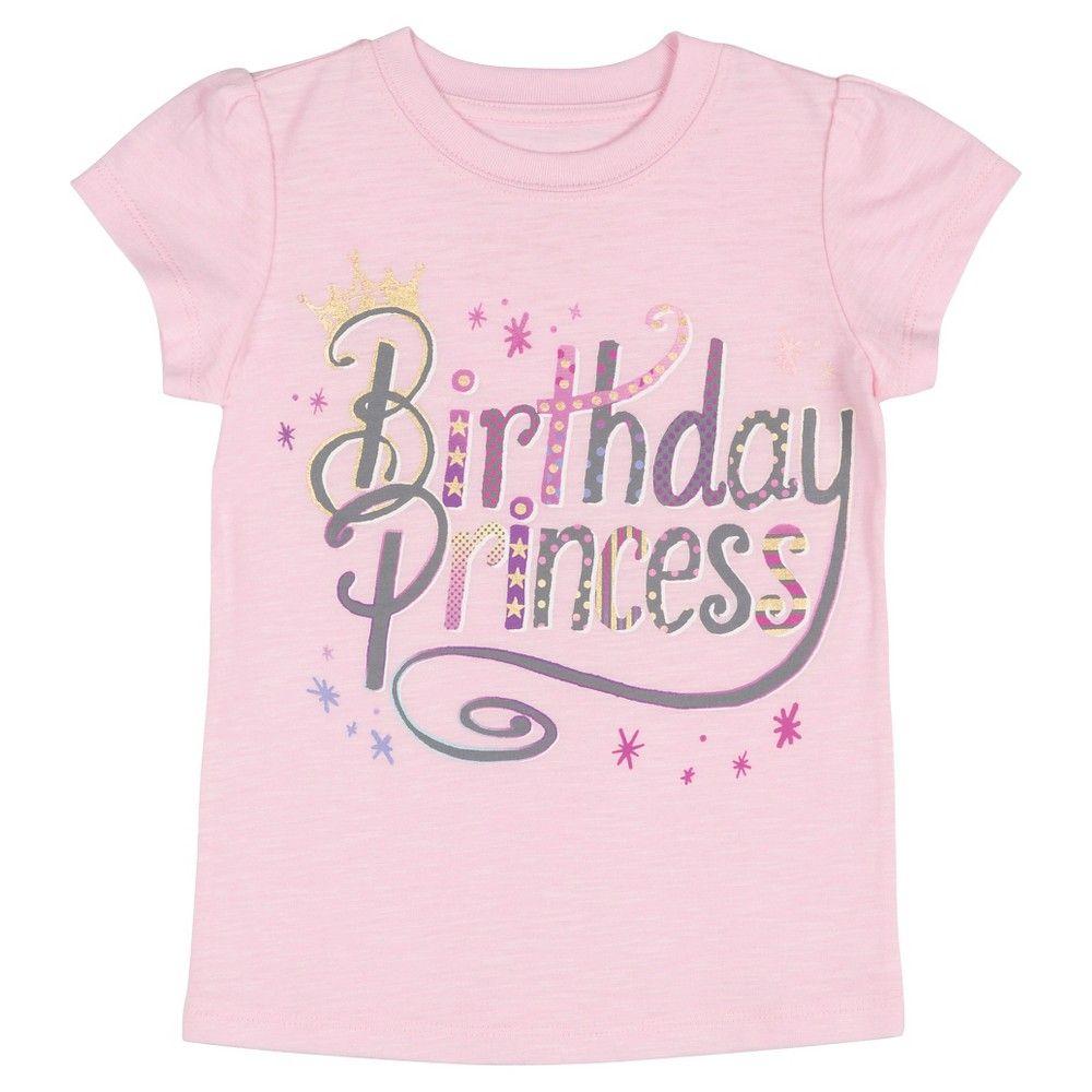 d2ae2b2f Toddler Girls' Birthday Princess T-Shirt 12M, Toddler Girl's, Size: 12 M,  Pink