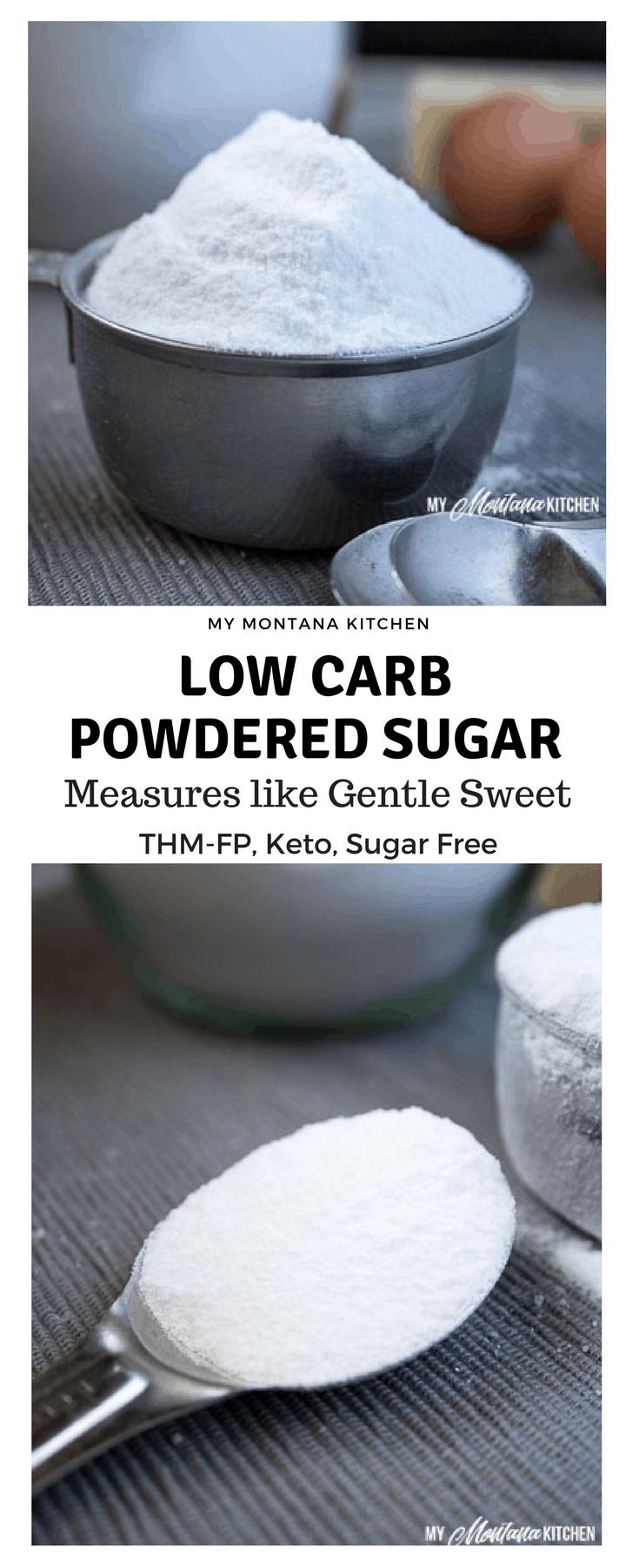 Low Carb Powdered Sugar (Sugar Free, THM, Keto)