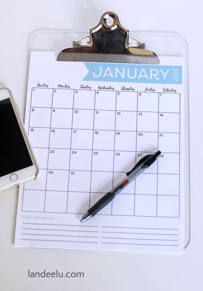 Free Printable Calendar for 2017 Get Organized – Free Office Calendar