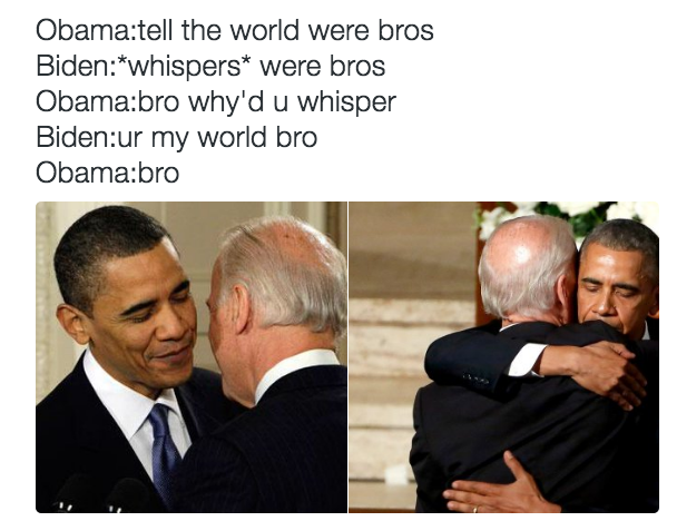 The Internet Imagines Barack Obama And Joe Biden As Best Buds And Their Conversations Are Hilarious Obama Funny Obama And Biden Joe Biden Memes