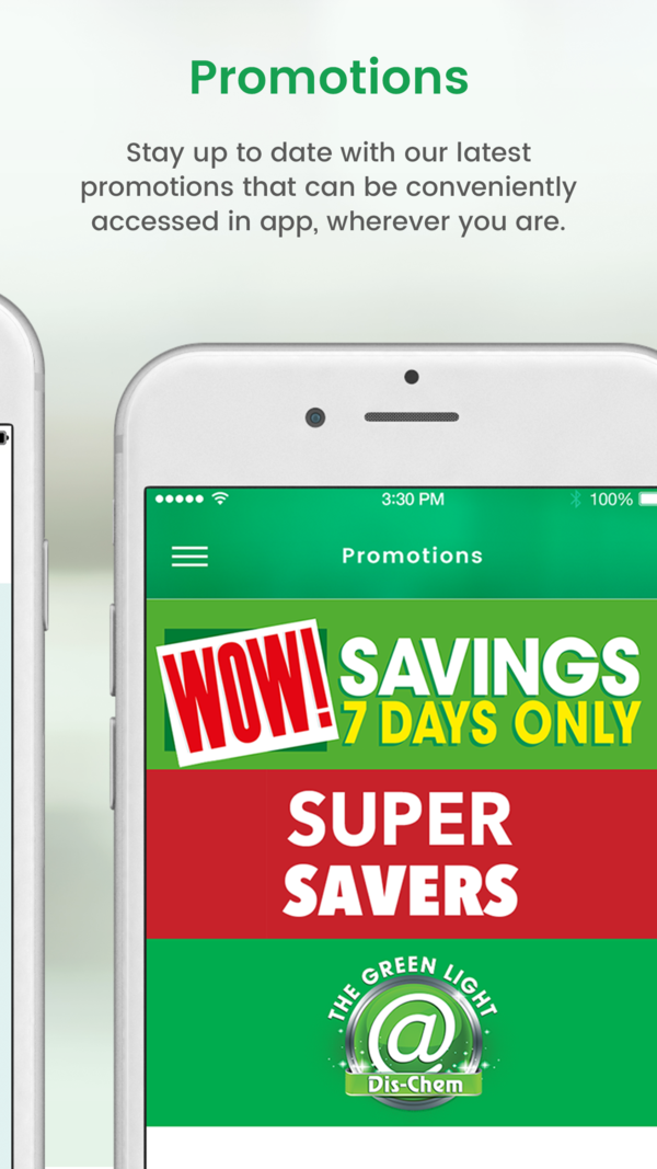 DisChem on the App Store App promotion, App, Virtual card