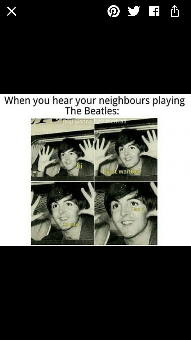 Lemme In And Let Me Listen Beatles Funny The Beatles Beatles Meme
