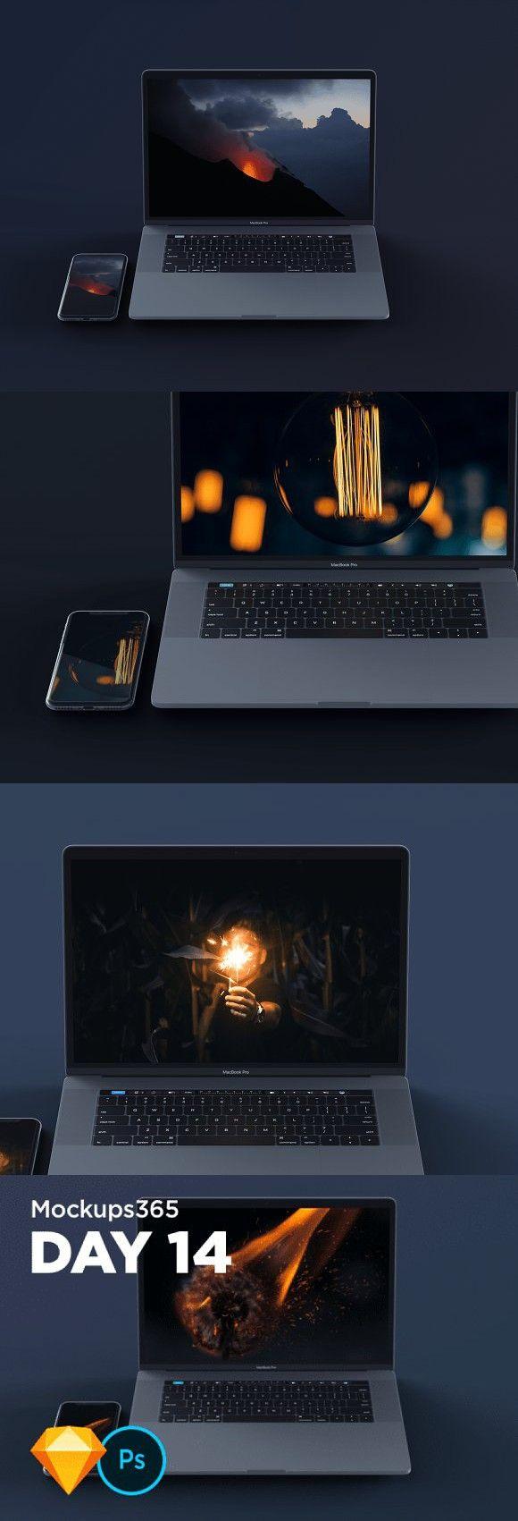 Mockups365 Day 14 Macbook mockup, Mockup design, Sketch
