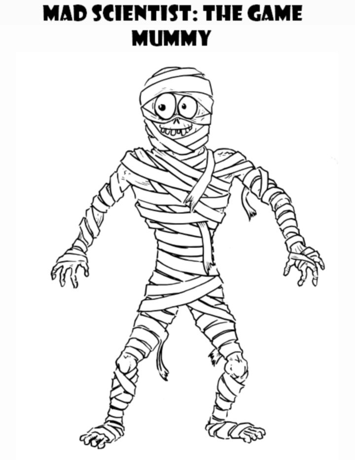 The Mummy Coloring Page With Images Free Coloring Pages