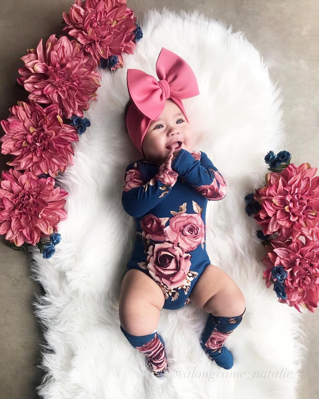 cute baby girls, bows, flowers, pink, cute baby outfits.  Cute
