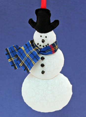 Easy Christmas Crafts Snowman Finished And Hanging As An Ornament