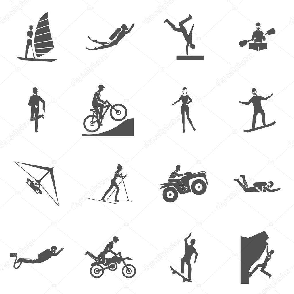 Iconos De Deportes Extremos Ilustración De Stock New York Weather Extreme Sports Budget Vacation