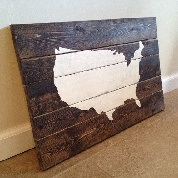 United States Wall Art united states map -wood wall art | united states map, wood wall