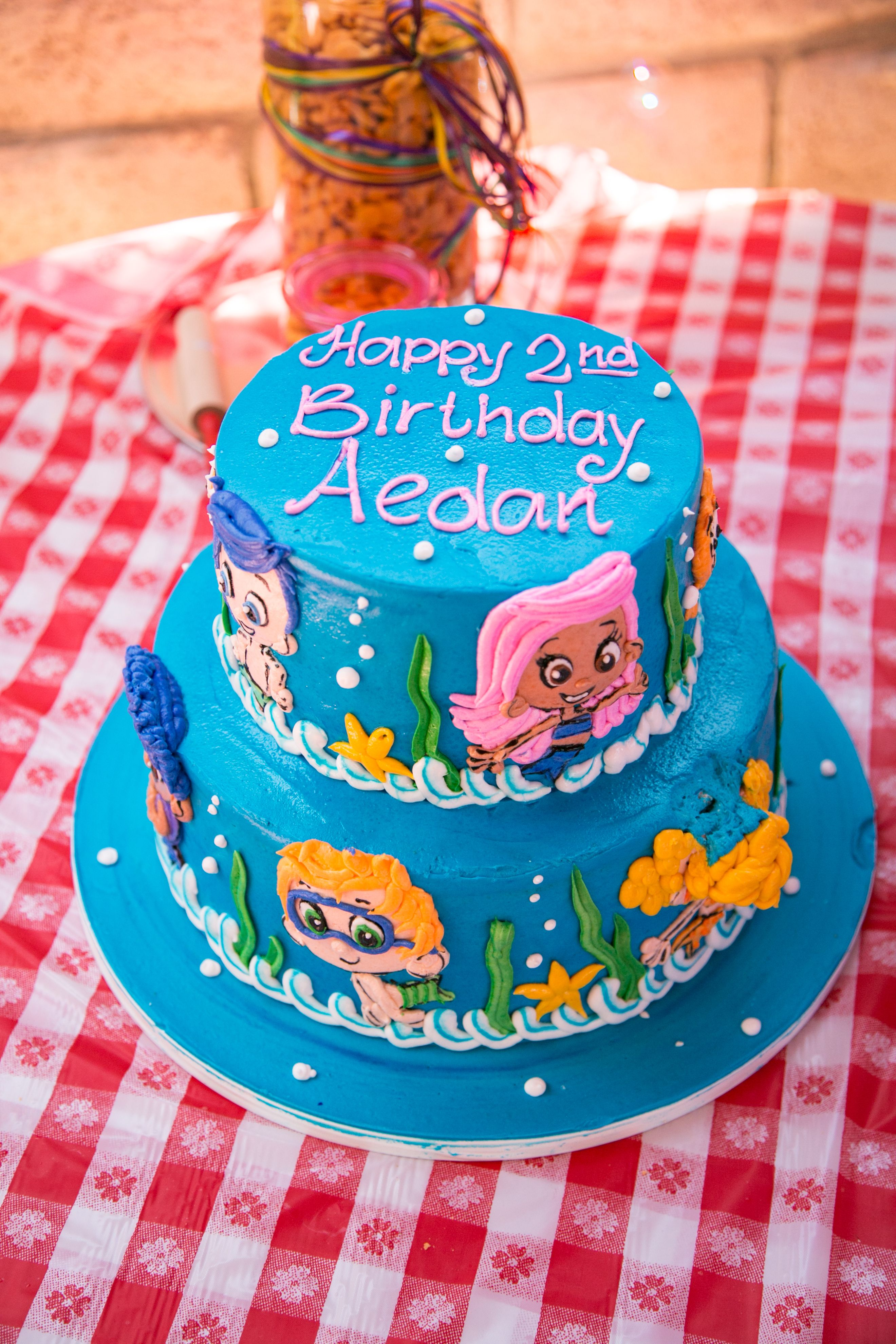 Birthday Cake Bubble Guppies For My Baby Boys 2nd Bday I Think