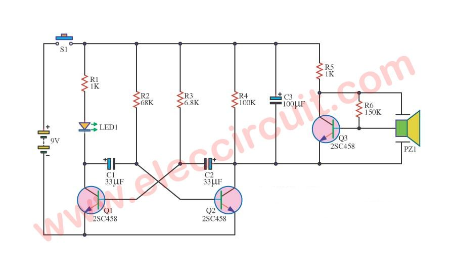simple sound effects circuits simple audio signal electric bell circuit diagram circuit using ne555 electronic circuits
