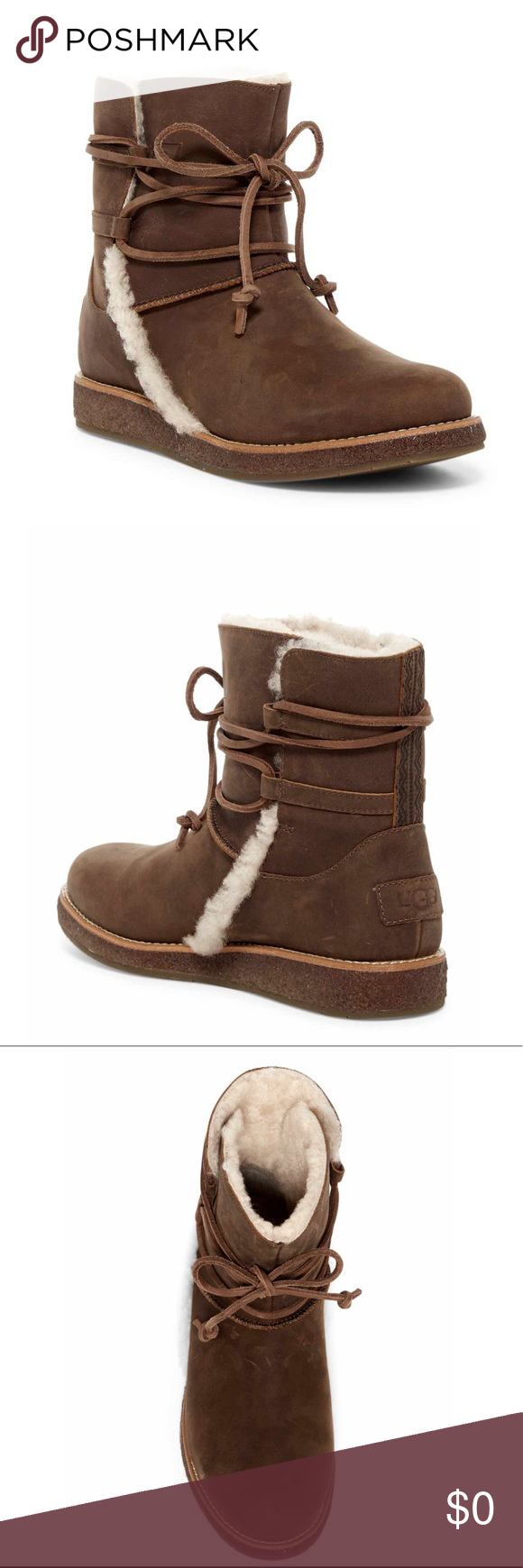 32f03ee93e4 UGG Luisa Brown ankle boot 4/5 WMN 2/3 KIDS NWT AWESOME UGG ...