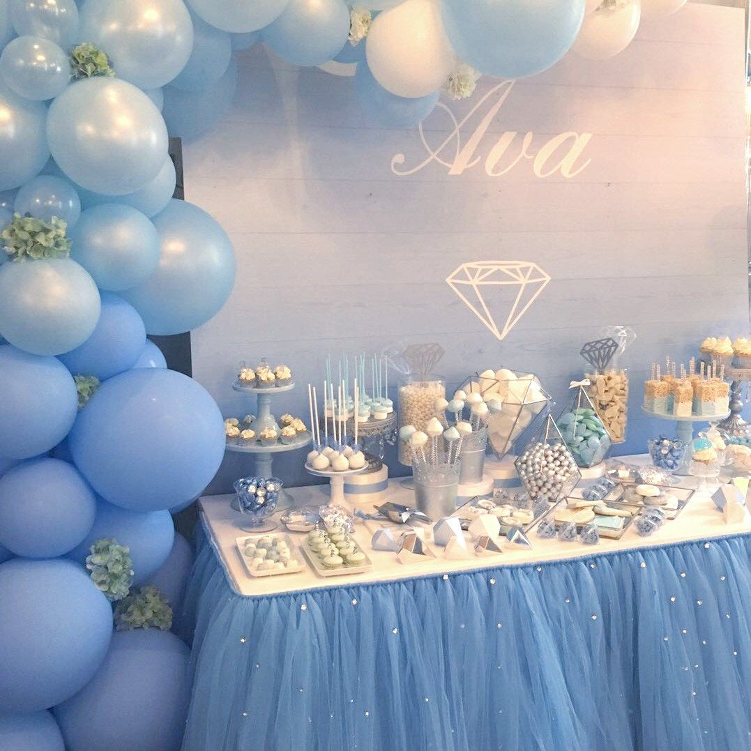 Baby Blue Balloon Bunting In 2019 Blue Balloons Baby