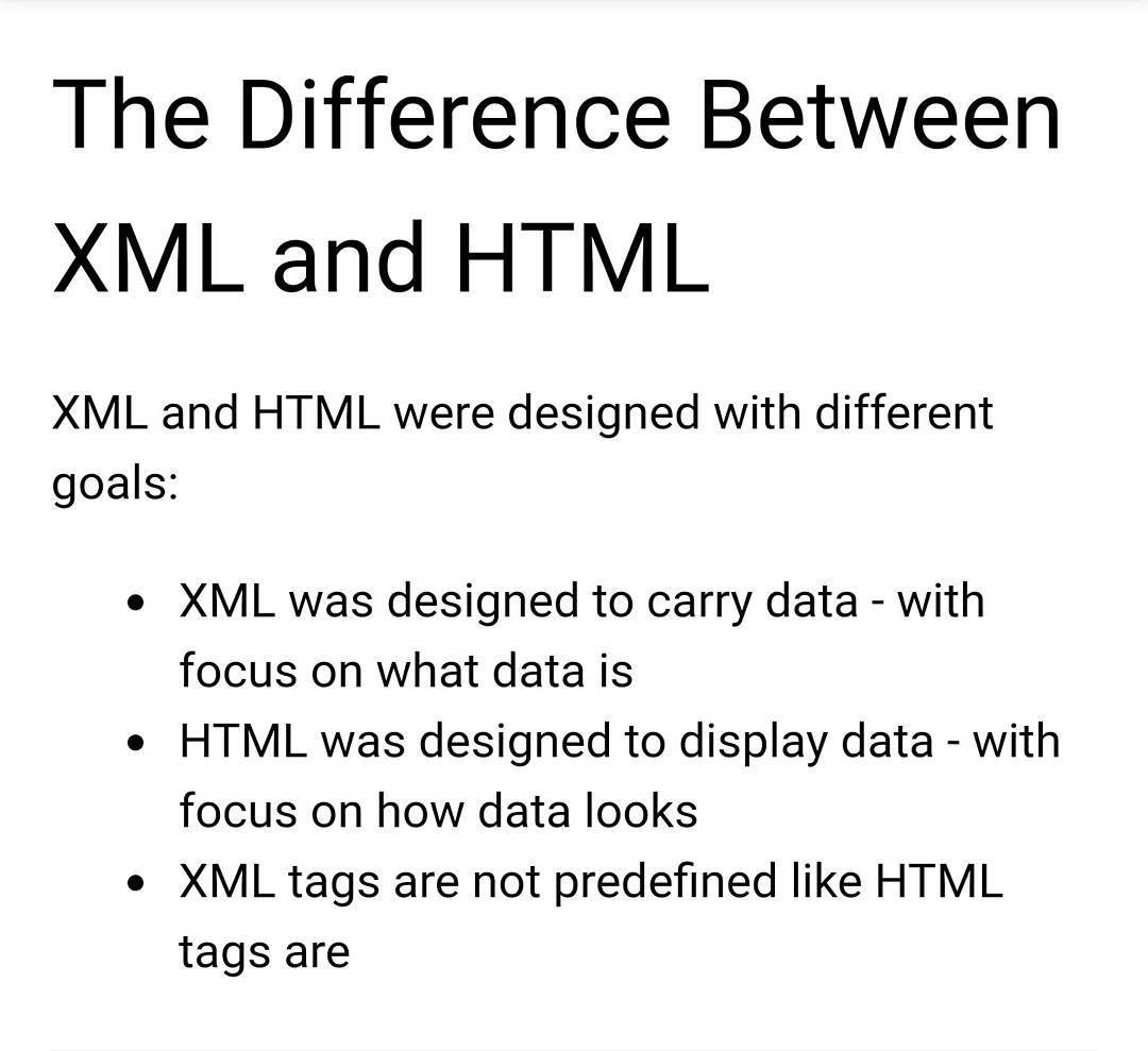 Html vs xml very simple xml vs html mongodb