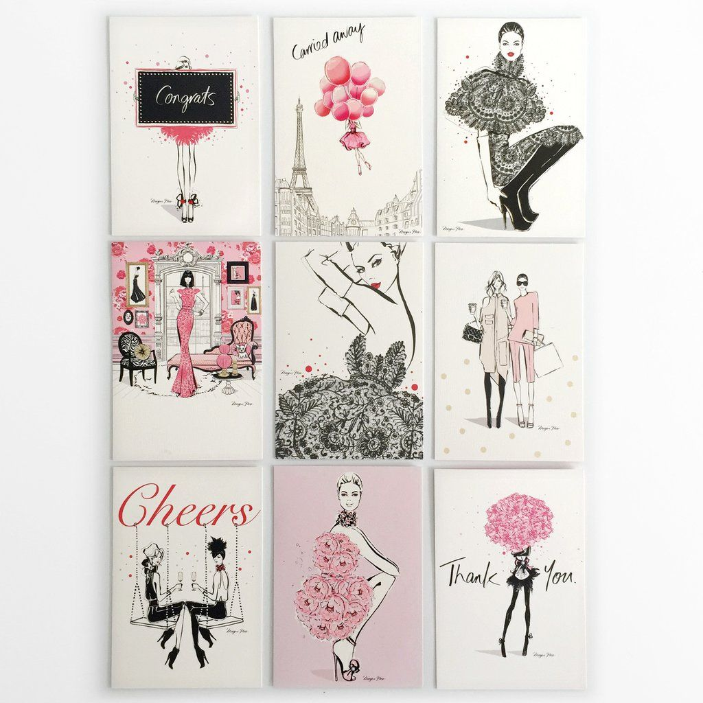 Megan hess x hallmark greeting card collection pink crafting megan has teamed up with hallmark to create a chic fashion inspired greeting card collection celebrating both lifes special and everyday moments m4hsunfo