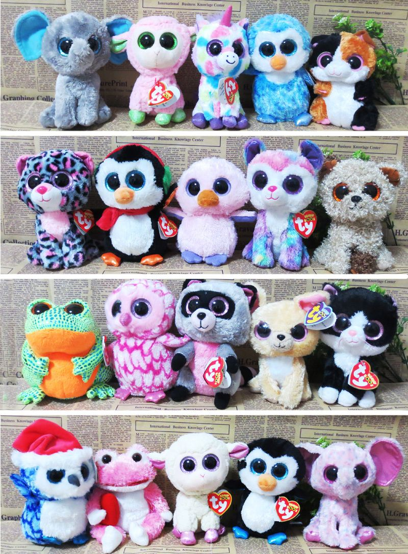 20pcs Lot Ty Beanie Boos Plush Animals Plush Toys Ty Big Eyes Soft Toys For Kids In Stuffed Plush Animals From Toys Beanie Boos Boo Plush Beanie Boo Party [ 1085 x 800 Pixel ]
