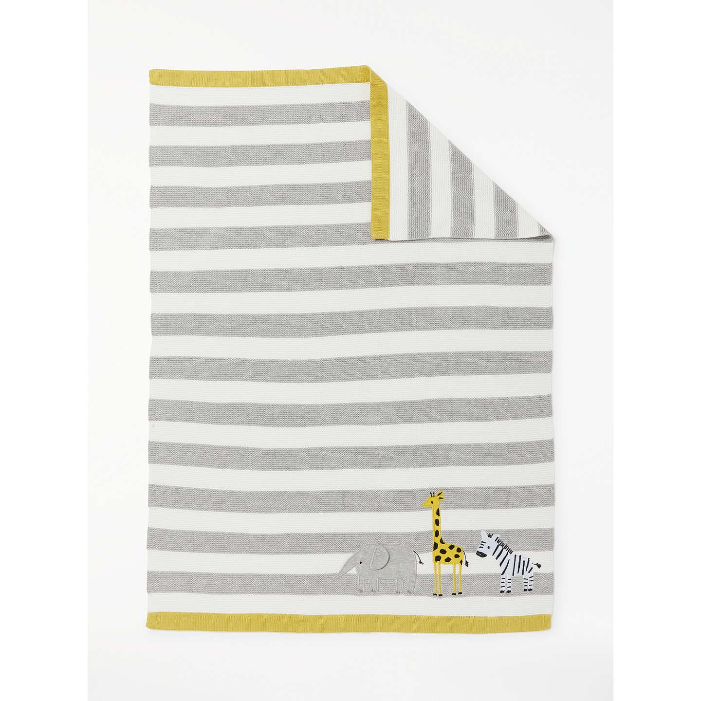 Buyjohn Lewis Baby Safari Stripe Blanket, Grey Online At Johnlewiscom