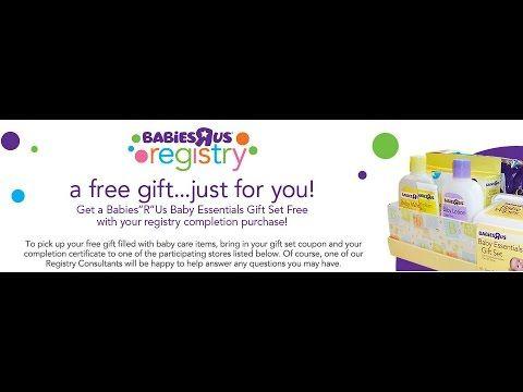 Baby Freebies Babies R Us Registry Gift Bag Baby Essentials Gift Baby Gift Registry List Baby Freebies